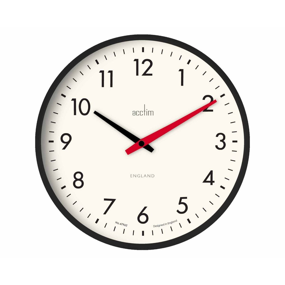 Image of Acctim Riley Retro Wall Clock, Black
