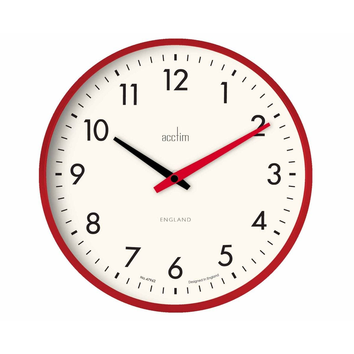 Image of Acctim Riley Retro Wall Clock, Red