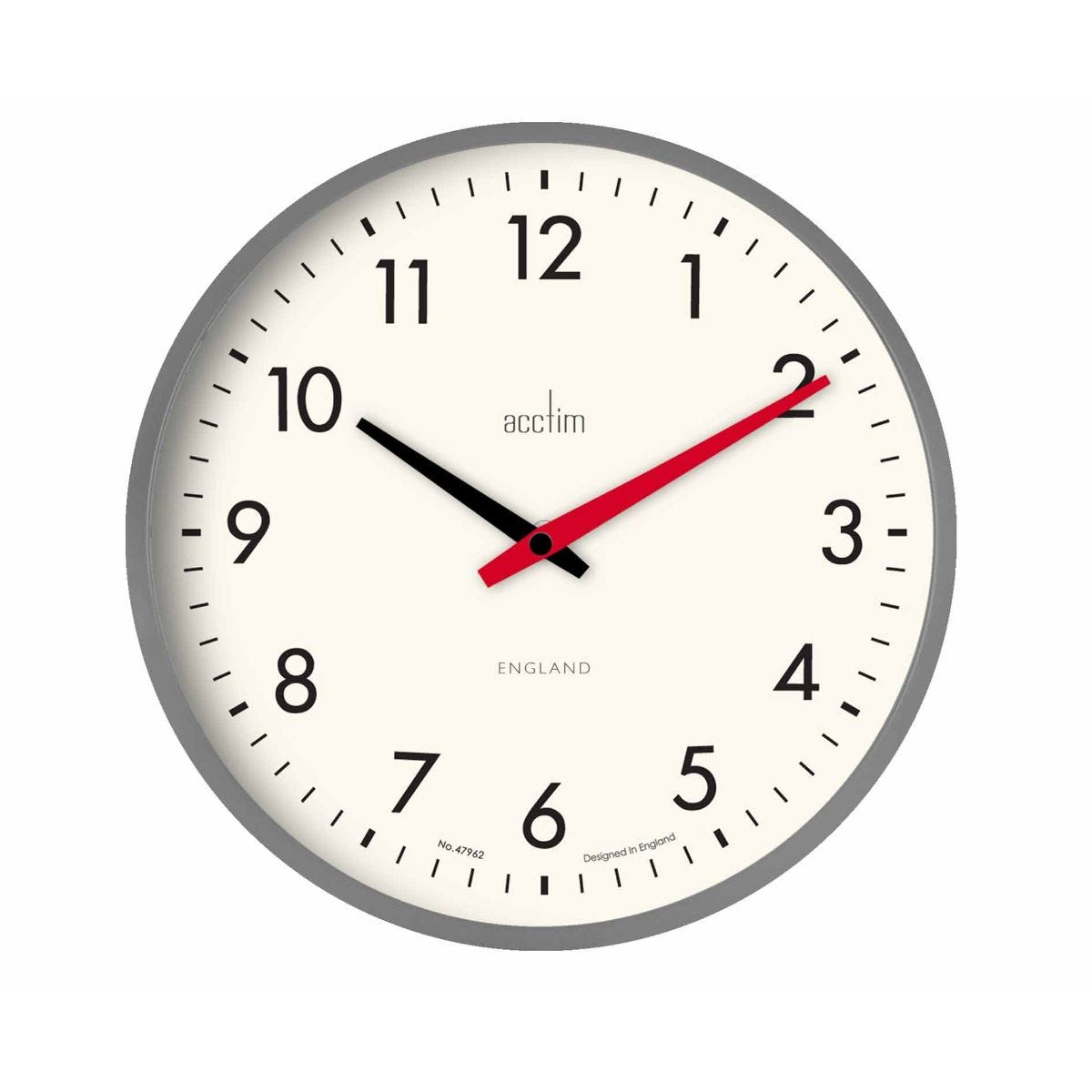 Image of Acctim Riley Retro Wall Clock, Grey
