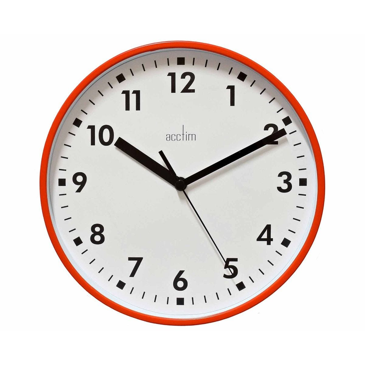 Image of Acctim Wickford Wall Clock, Bus Red