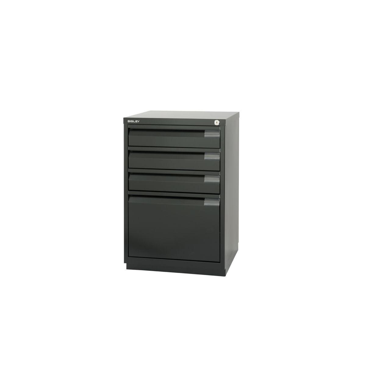 Bisley Filing Cabinet 1F3E Steel, Black