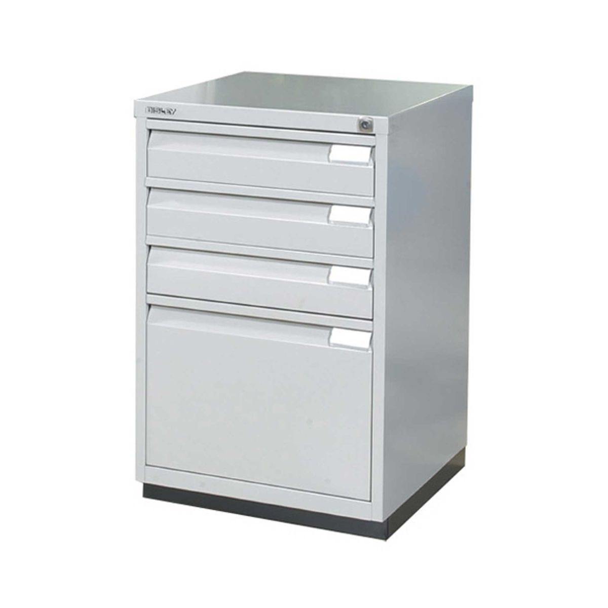 Bisley Filing Cabinet 1F3E Steel, Grey