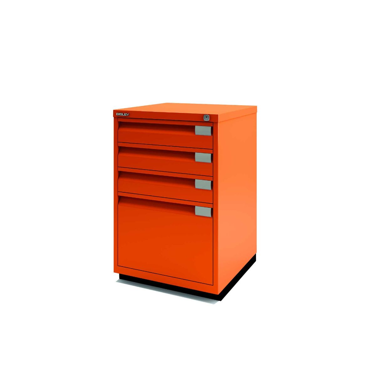 Bisley Filing Cabinet 1F3E Steel, Orange