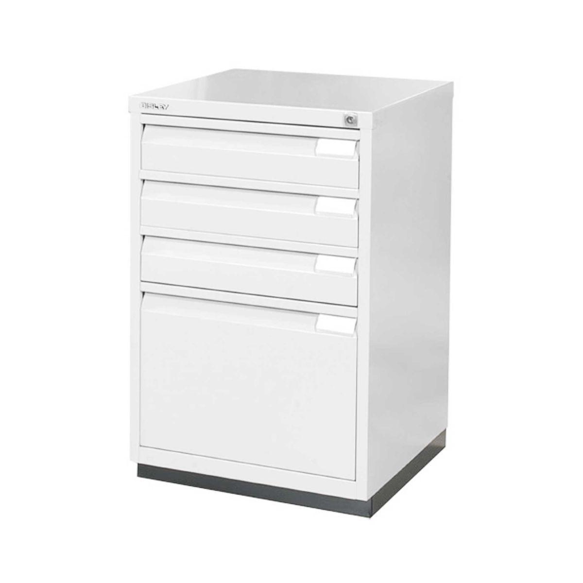 Bisley Filing Cabinet 1F3E Steel, Chalk White