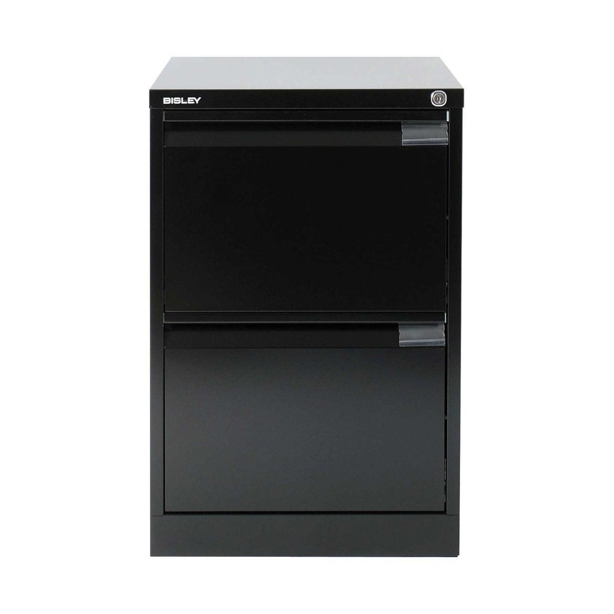 Bisley Filing Cabinet BS2E 2 drawer H711xW470xD622mm Steel, Black