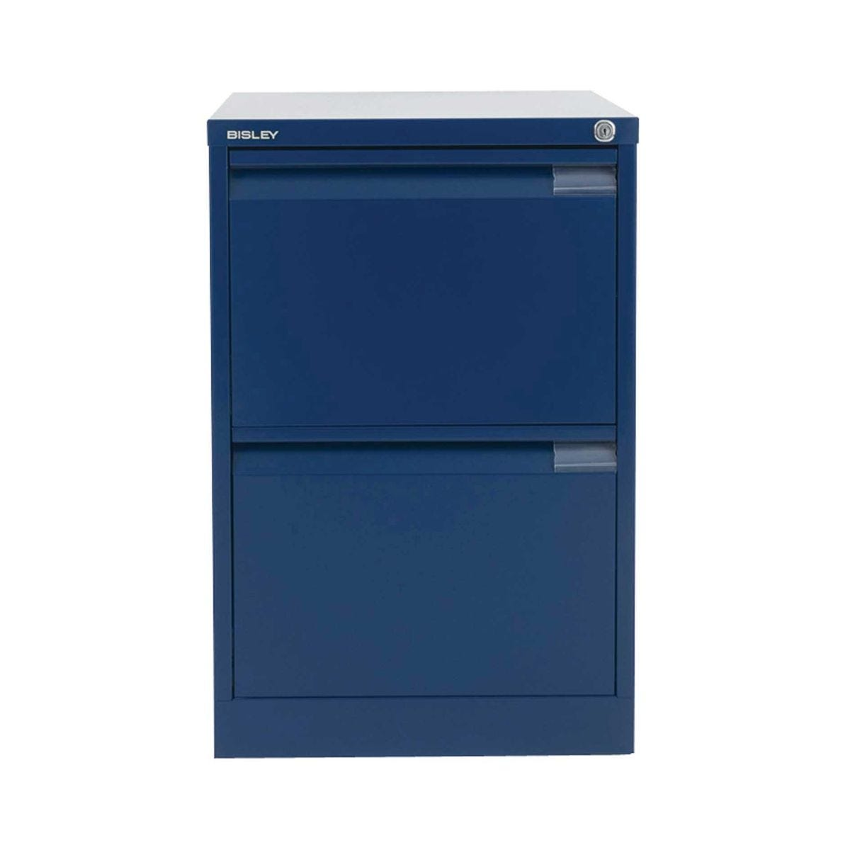 Bisley Filing Cabinet BS2E 2 drawer H711xW470xD622mm Steel, Oxford Blue