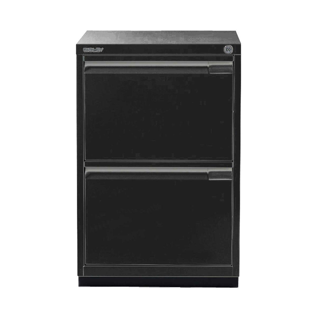 Bisley Filing Cabinet 2FE 2 Drawer H711xD470xW470mm Steel, Black