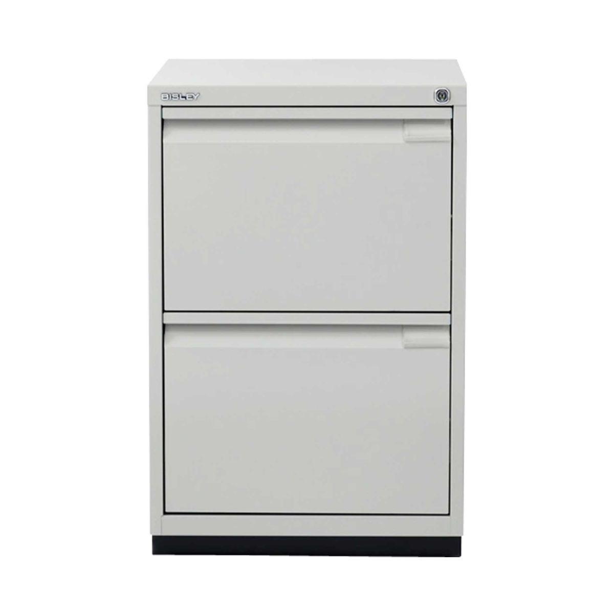 Bisley Filing Cabinet 2FE 2 Drawer H711xD470xW470mm Steel, Grey
