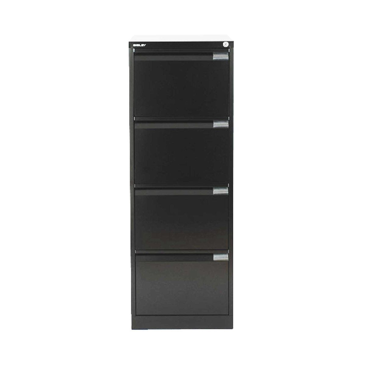 Bisley Filing Cabinet BS4E 4 drawer H1321xW470xD622mm Steel, Black
