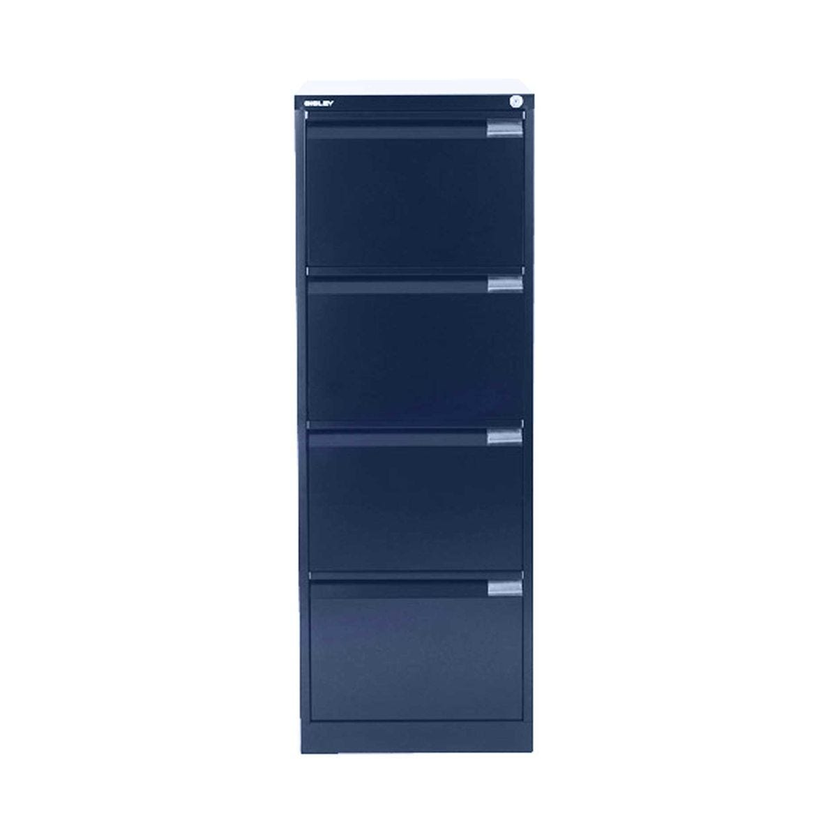 Bisley Filing Cabinet BS4E 4 drawer H1321xW470xD622mm Steel, Oxford Blue