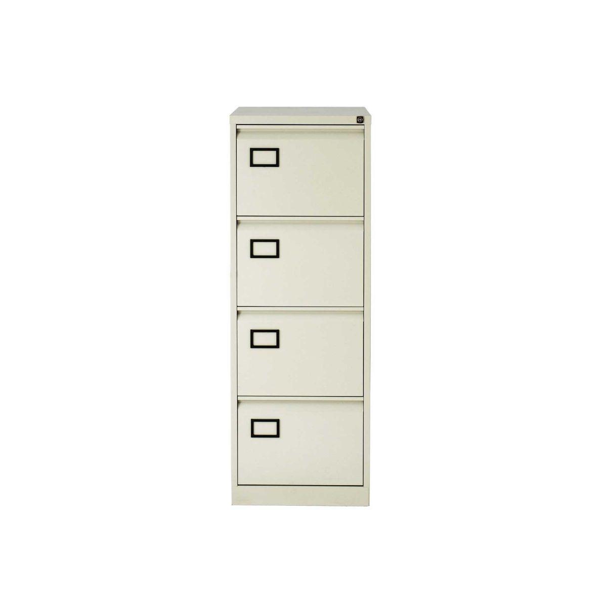 Bisley 4 Drawer Filing Cabinet Foolscap, Grey