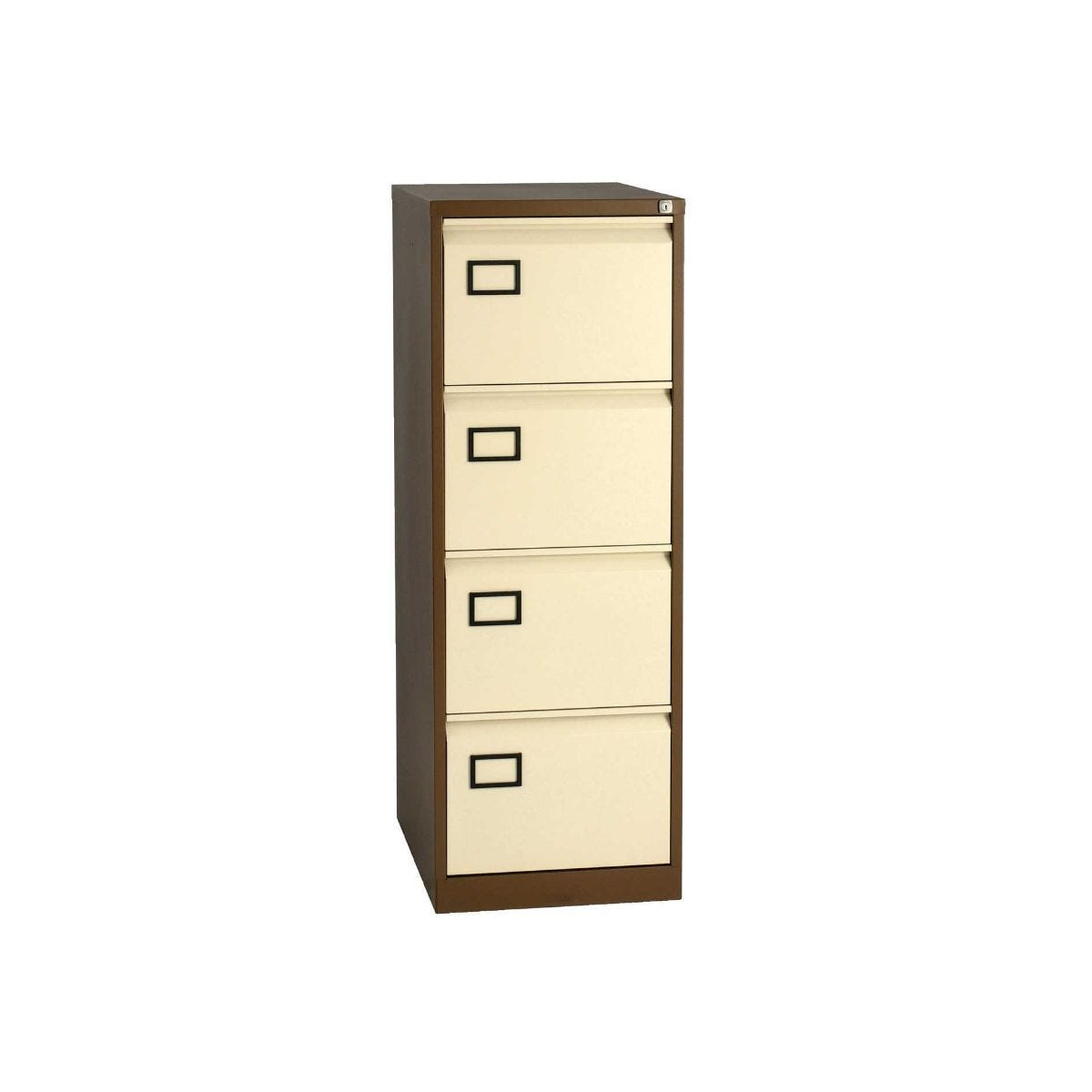 Bisley 4 Drawer Filing Cabinet Foolscap, Coffee  Cream