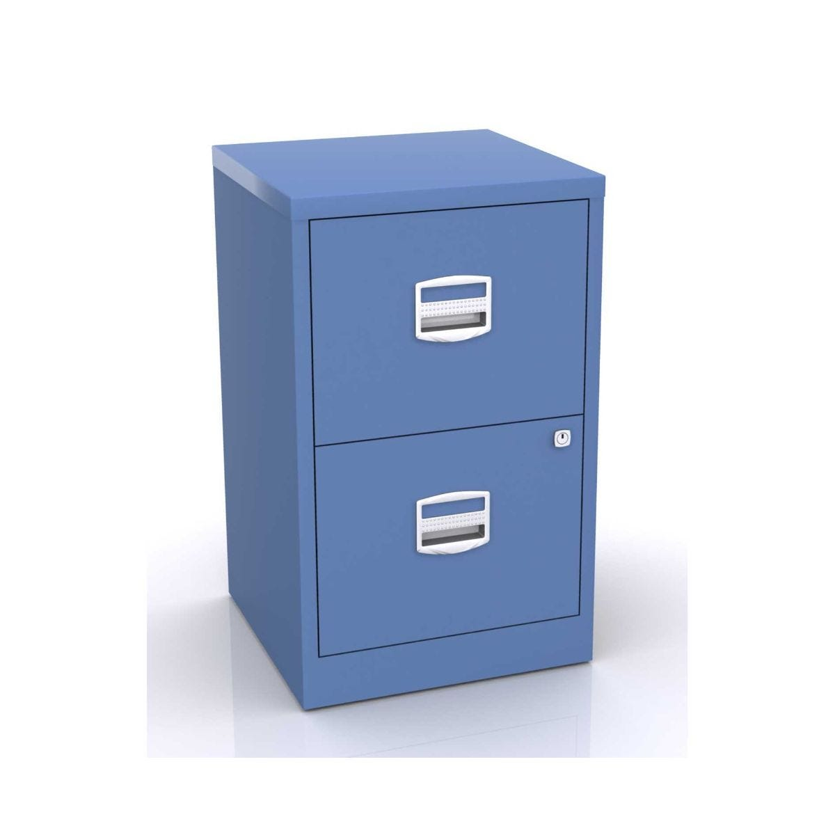 Bisley Metal Filing Cabinet 2 Drawer A4 H670xw410xd400mm