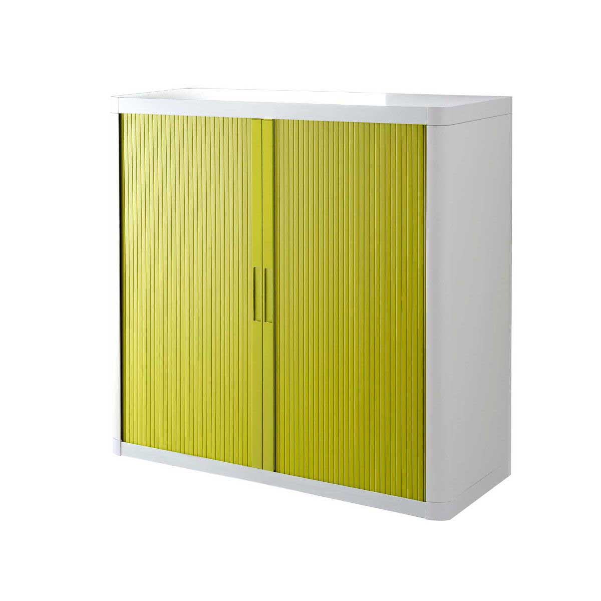 Easy Office Tambour Unit 1 Metre, White/Green.