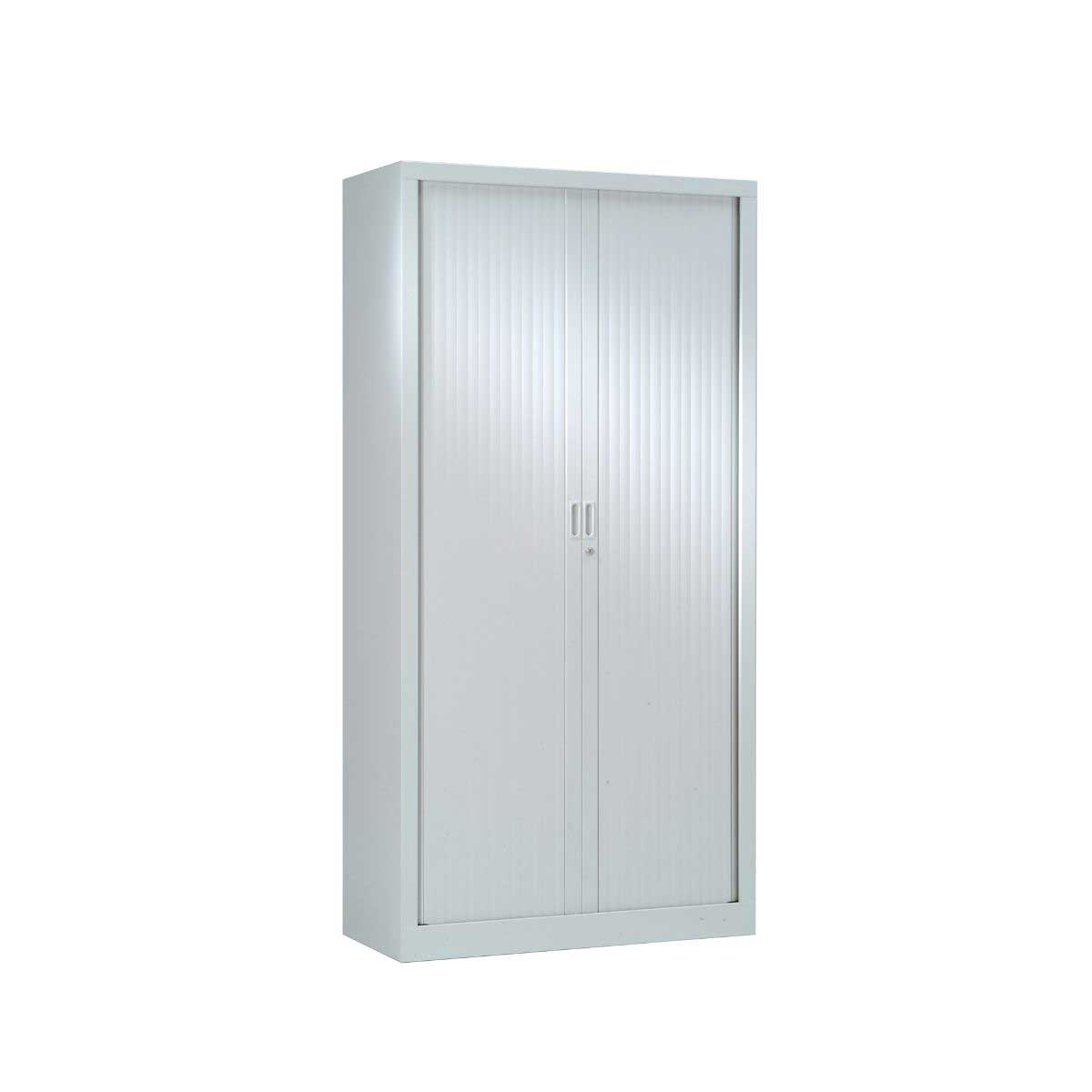 Generic Tambour Cupboard Height 1980mm, Silver
