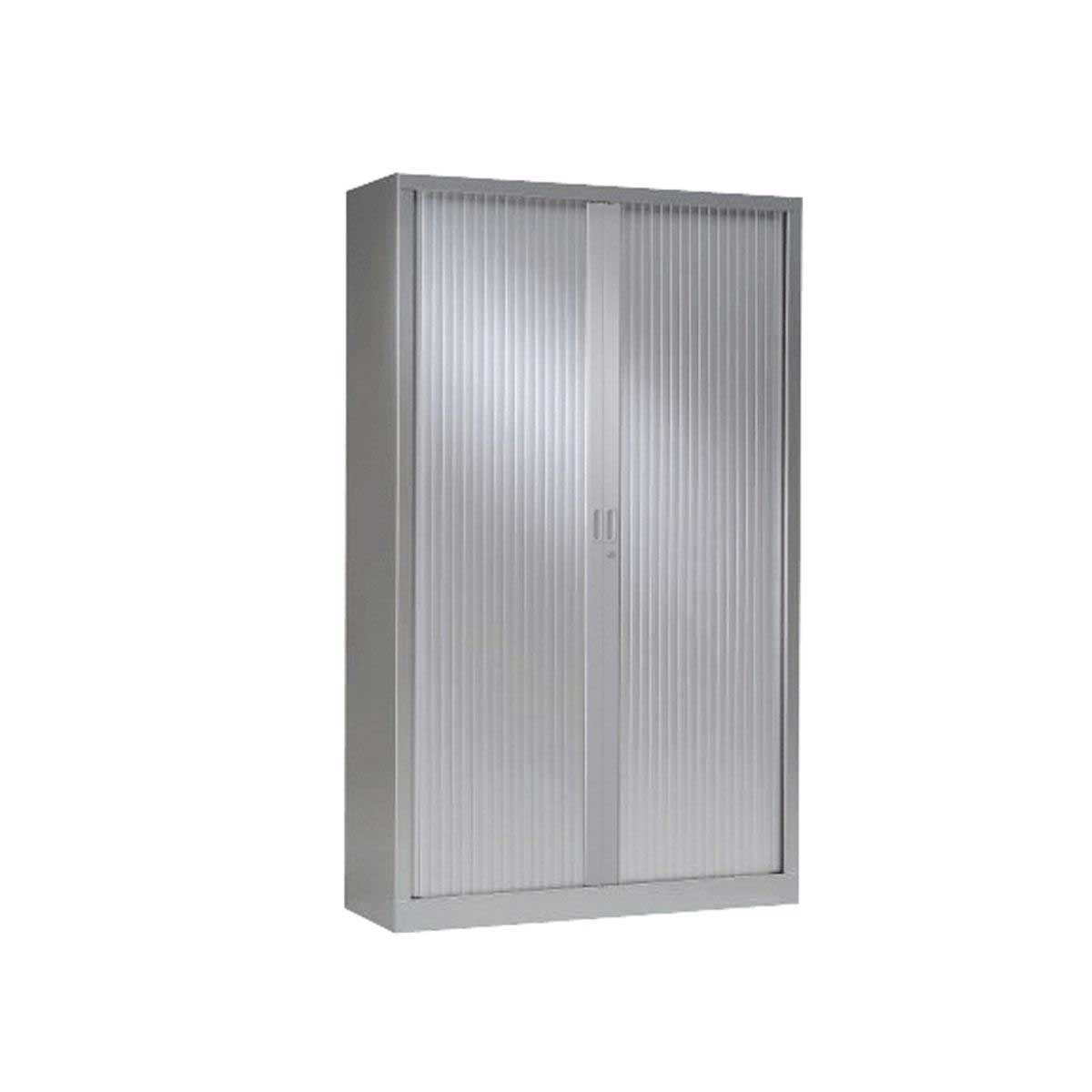 Generic Tambour Cupboard Height 1980mm, Grey