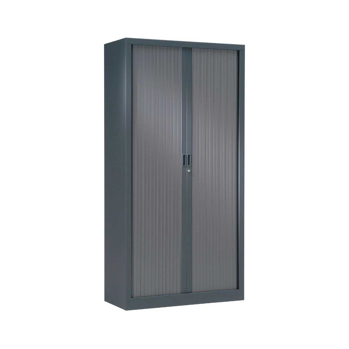 Pierre Henry Generic Tambour Cupboard Height 1980mm, Anthracite