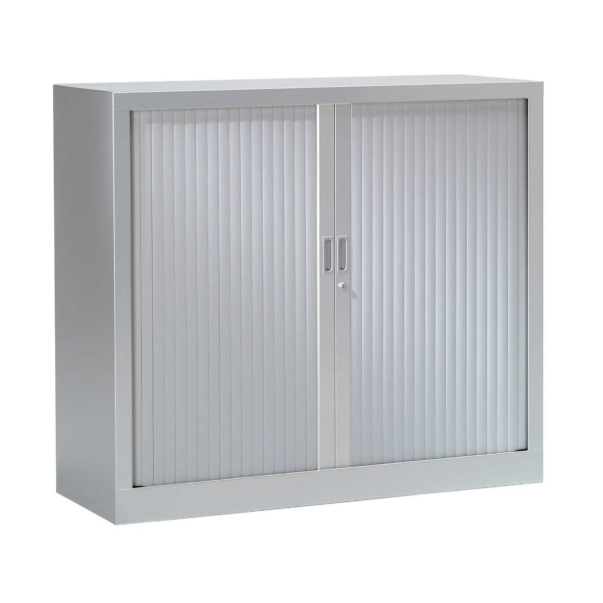Generic Tambour Cupboard Height 1000mm, Silver
