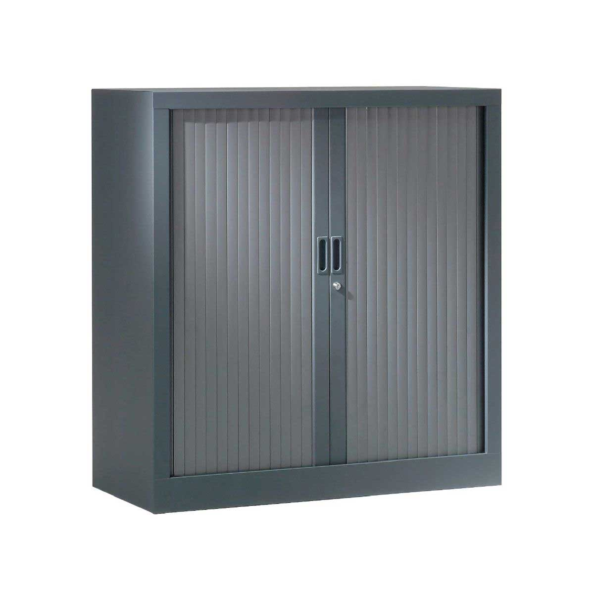 Pierre Henry Generic Tambour Cupboard Height 1000mm x 1000mm, Anthracite