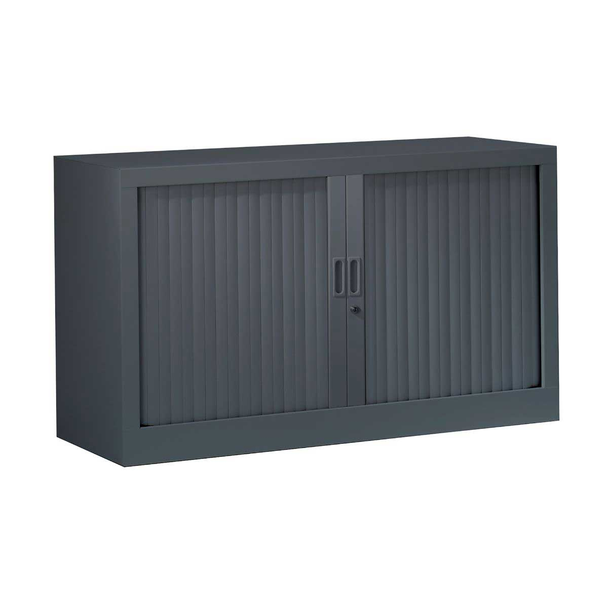 Generic Tambour Cupboard Height 695mm, Anthracite
