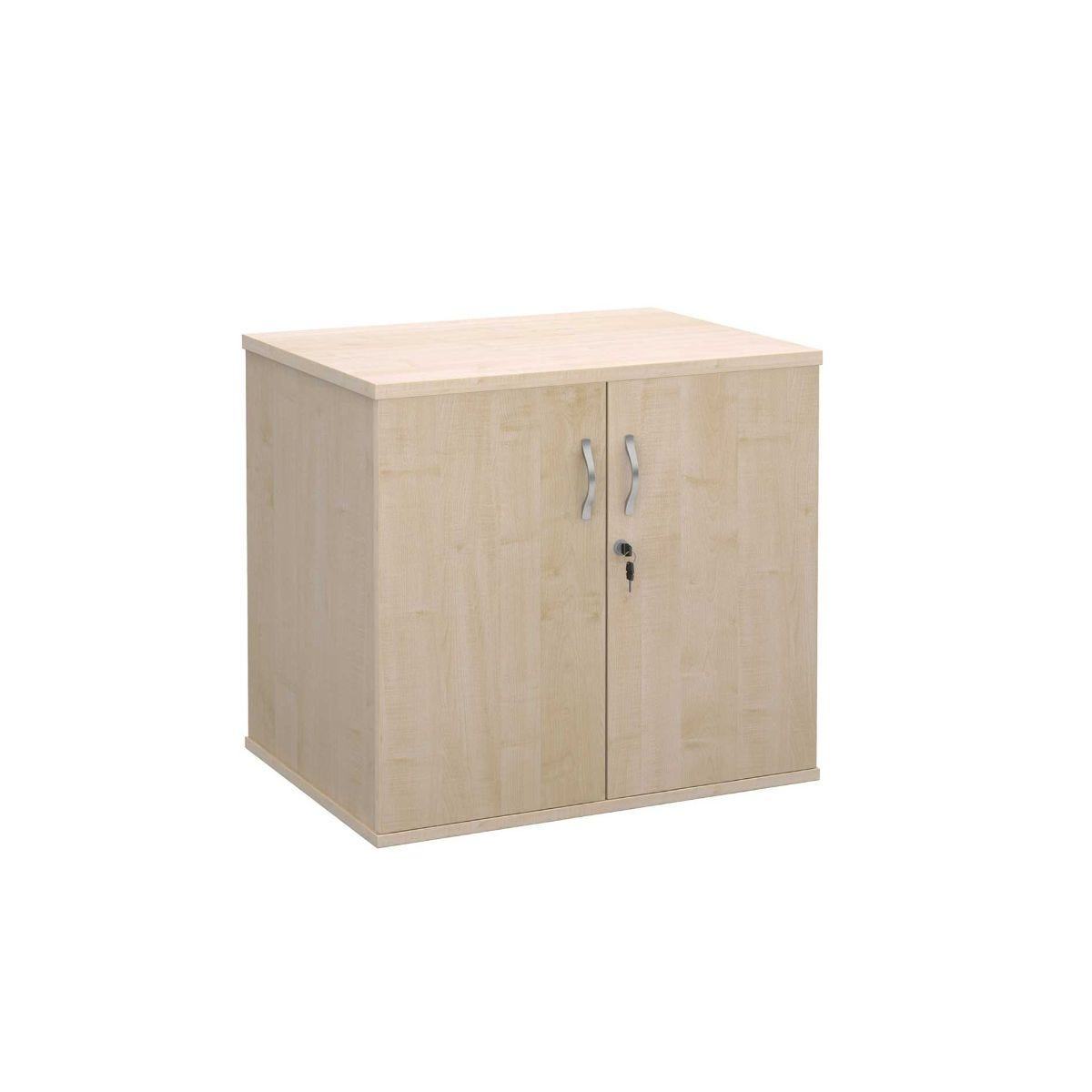Desk High Cupboard with Doors, Maple