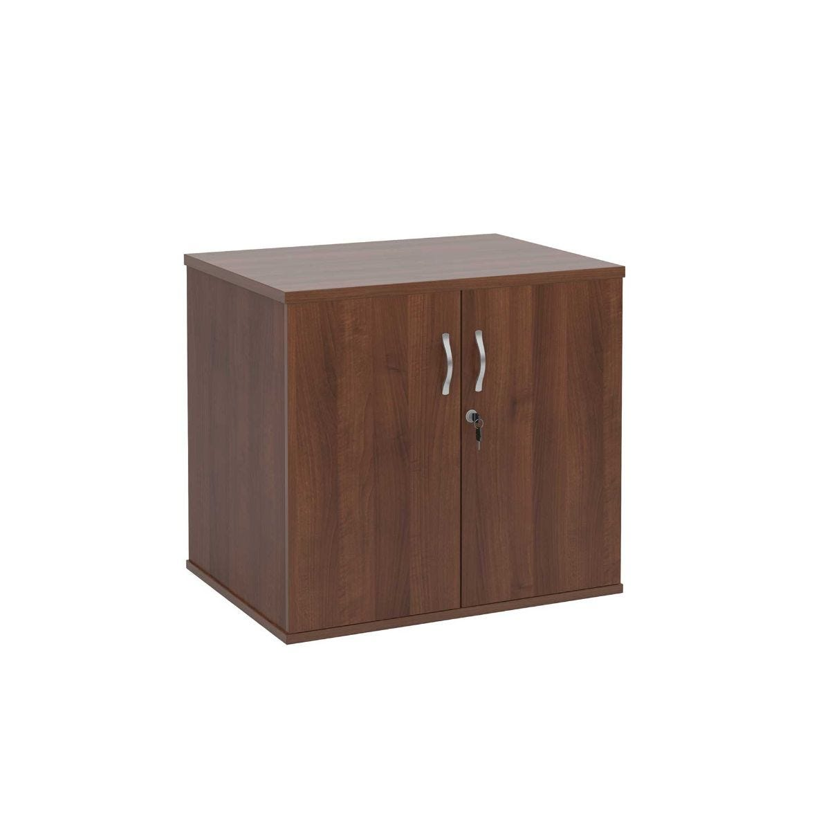 Desk High Cupboard with Doors, Walnut