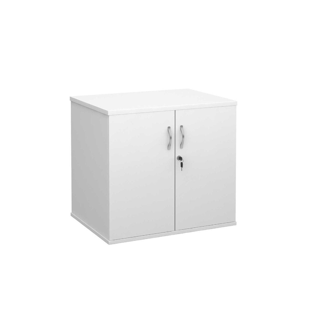 Desk High Cupboard with Doors, White