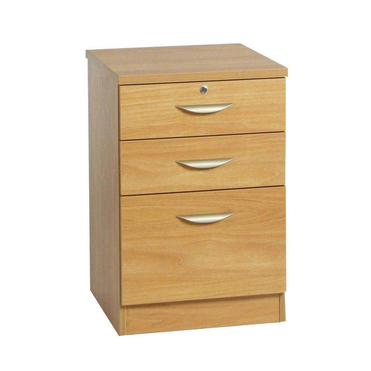 R White Combination Cabinet 3 Drawer B-3CU H728xW479xD540mm, English Oak
