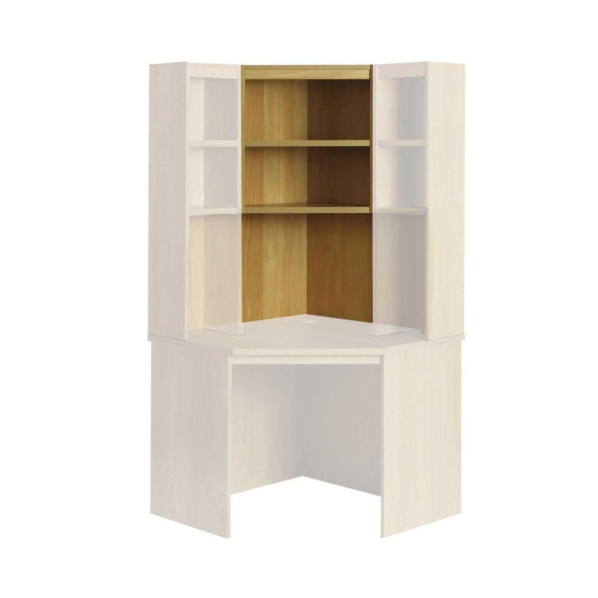 R White Overshelf Unit 2 Shelves OSE H1100xW642xD300mm, Walnut