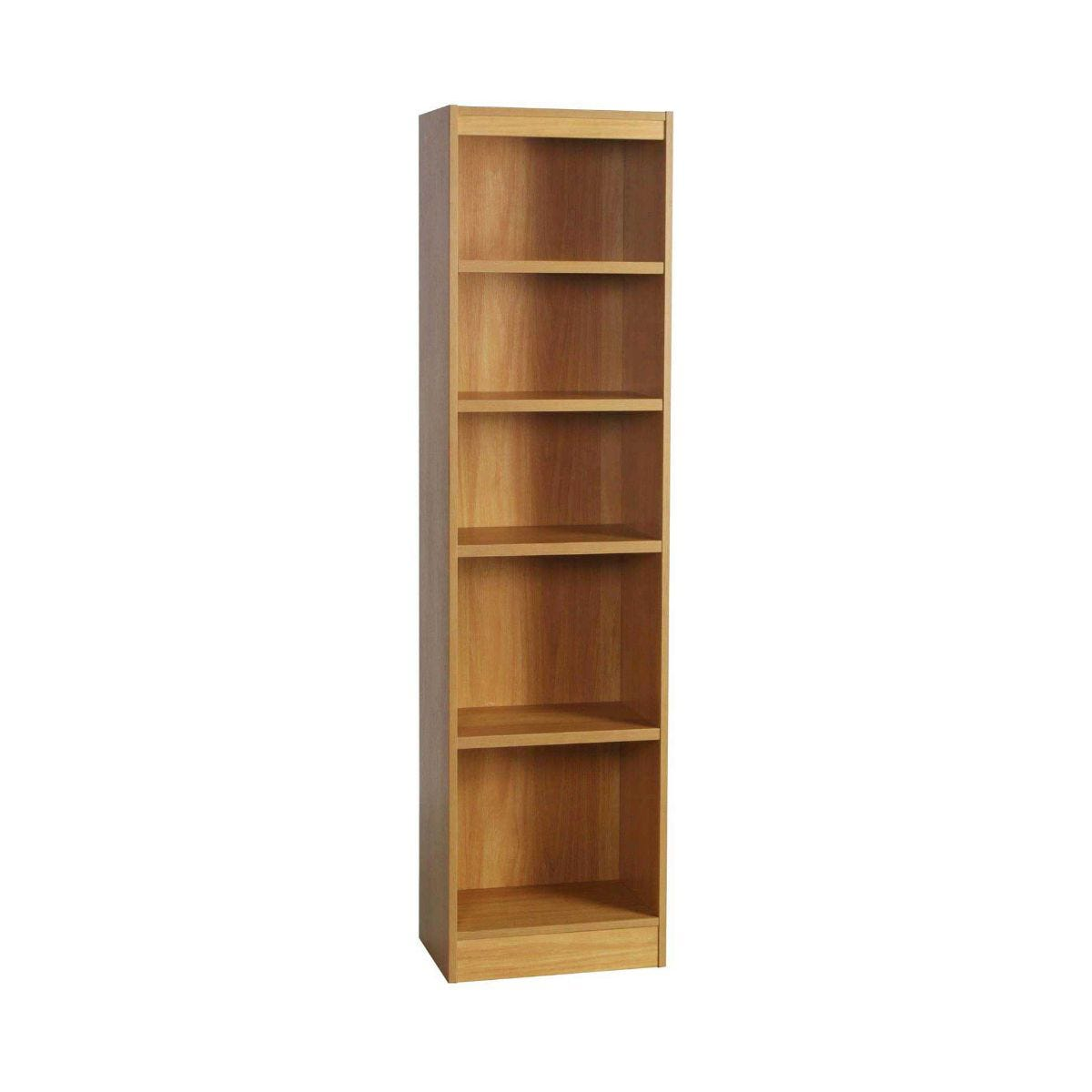 R White High Level Bookcase H-B48 H1828xW476xD370mm, Classic Oak