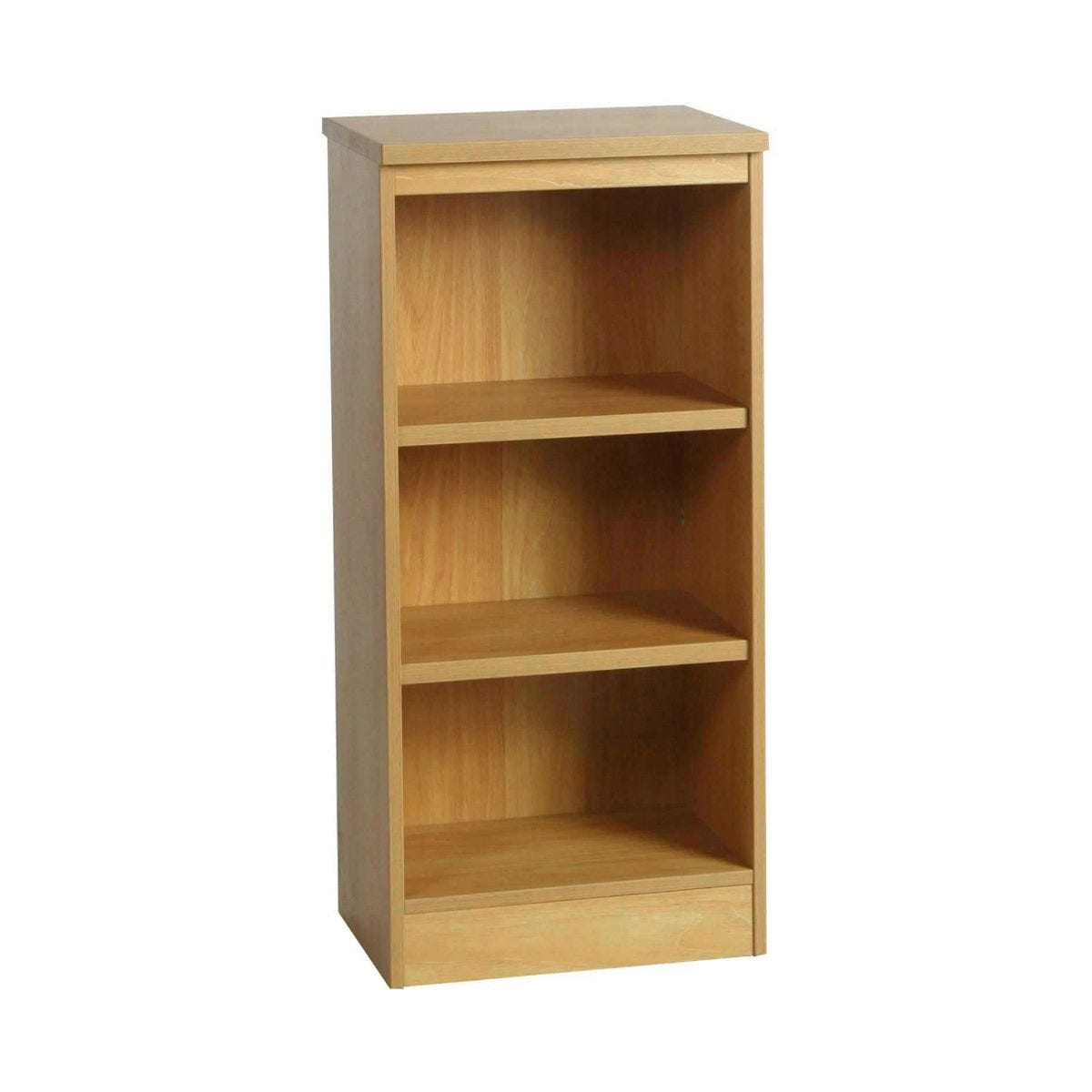 R White Mid Level Bookcase M-B48 H1032xW479xD370mm, Classic Oak