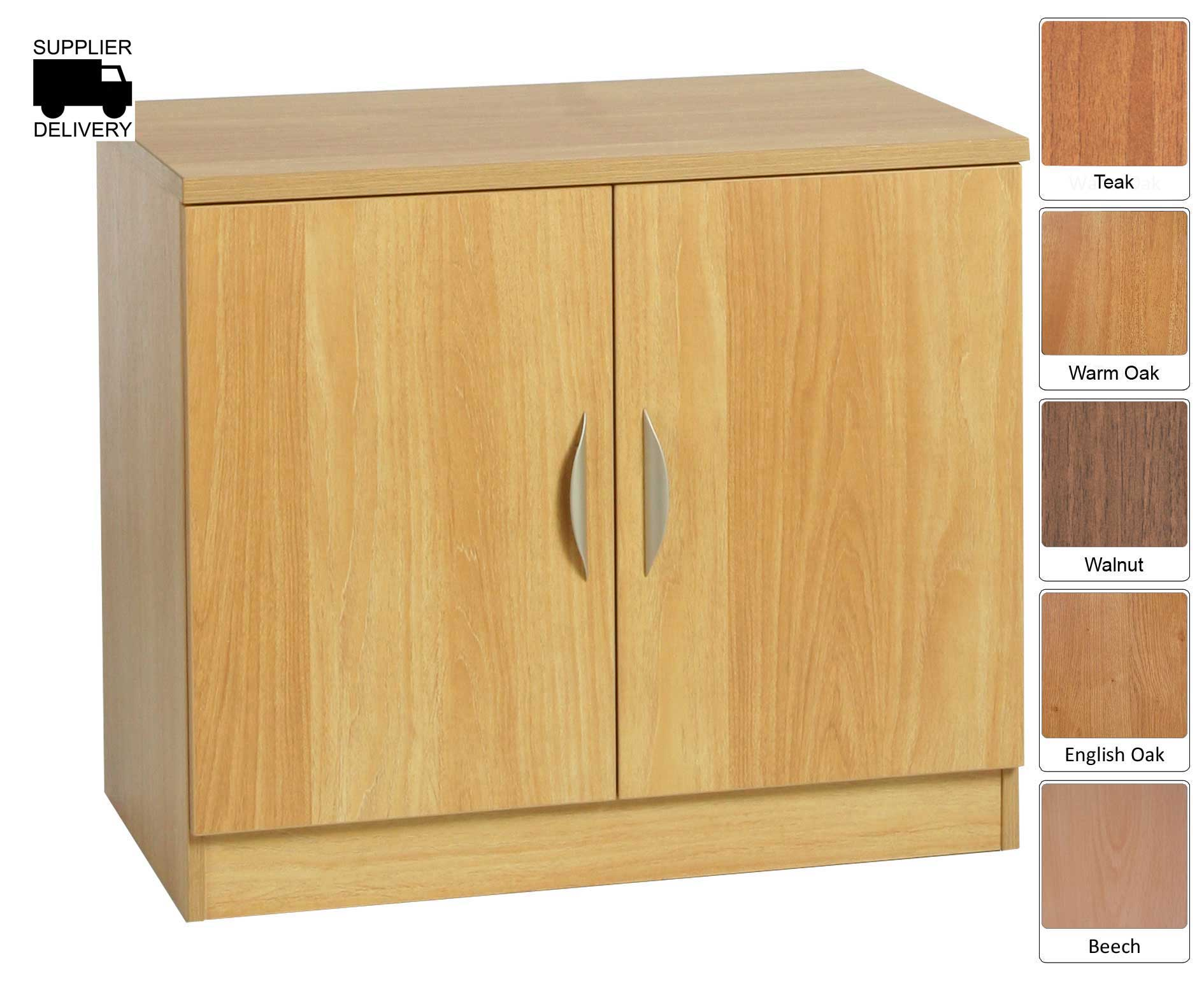 R White Double Cupboard B-C85 H728xW850xD540mm, Classic Oak