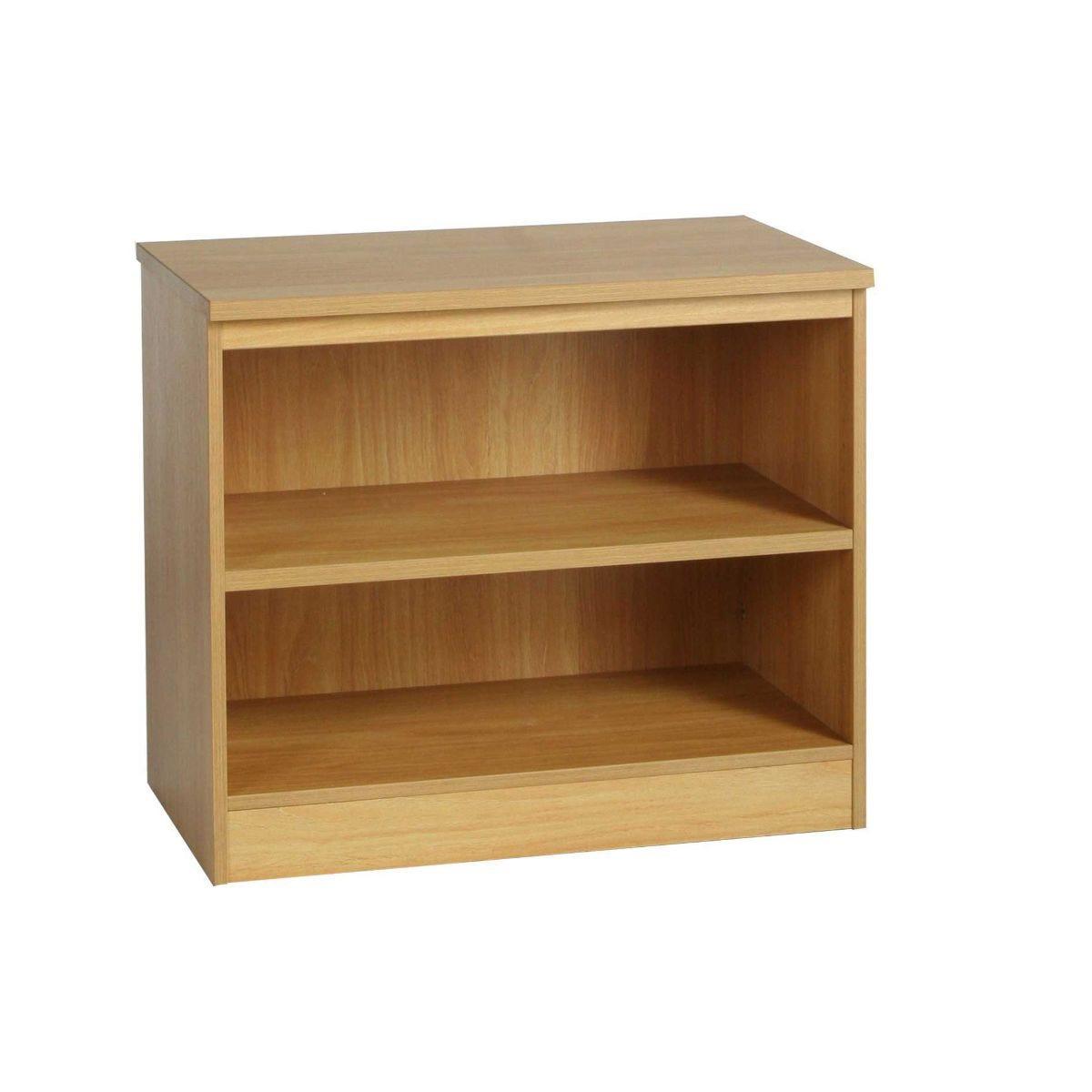 R White Bookcase B-B85 H728xW850xD540mm, Teak