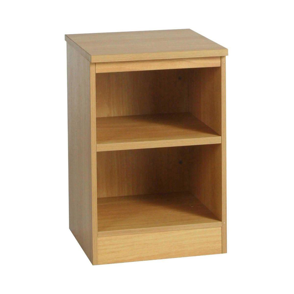 R White Single Bookcase B-B48 H728xW479xD540mm, Classic Oak