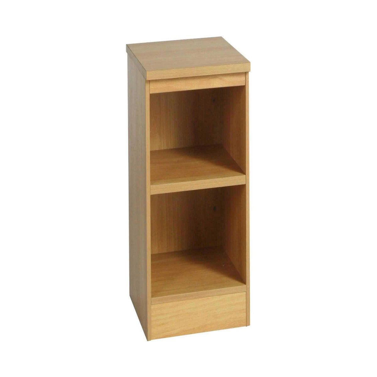 R White Narrow Bookcase B-B30 H728xW300xD540mm, Classic Oak