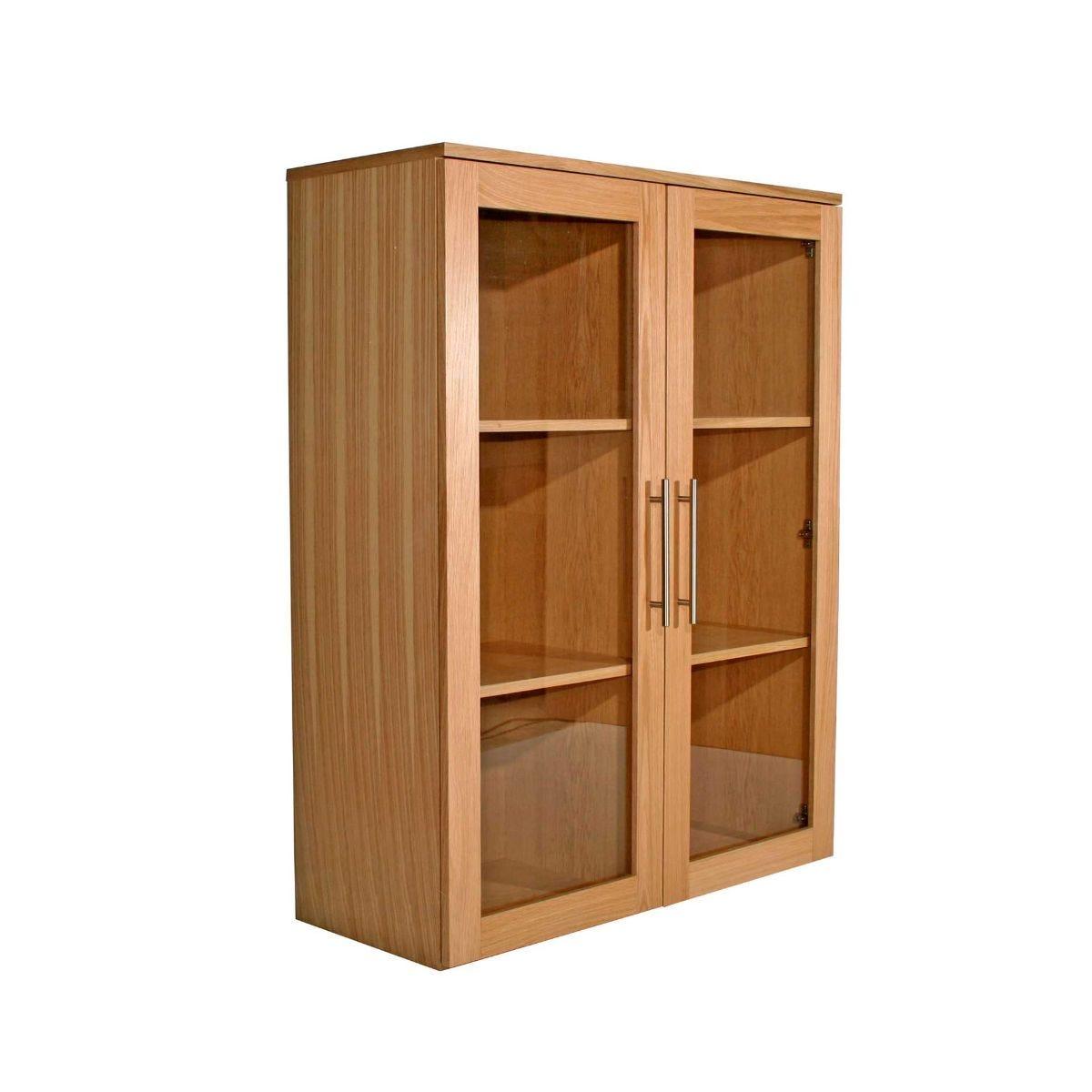 Oakwood AW6326-WBC Wide Glazed Bookcase H1150xW900xD360mm