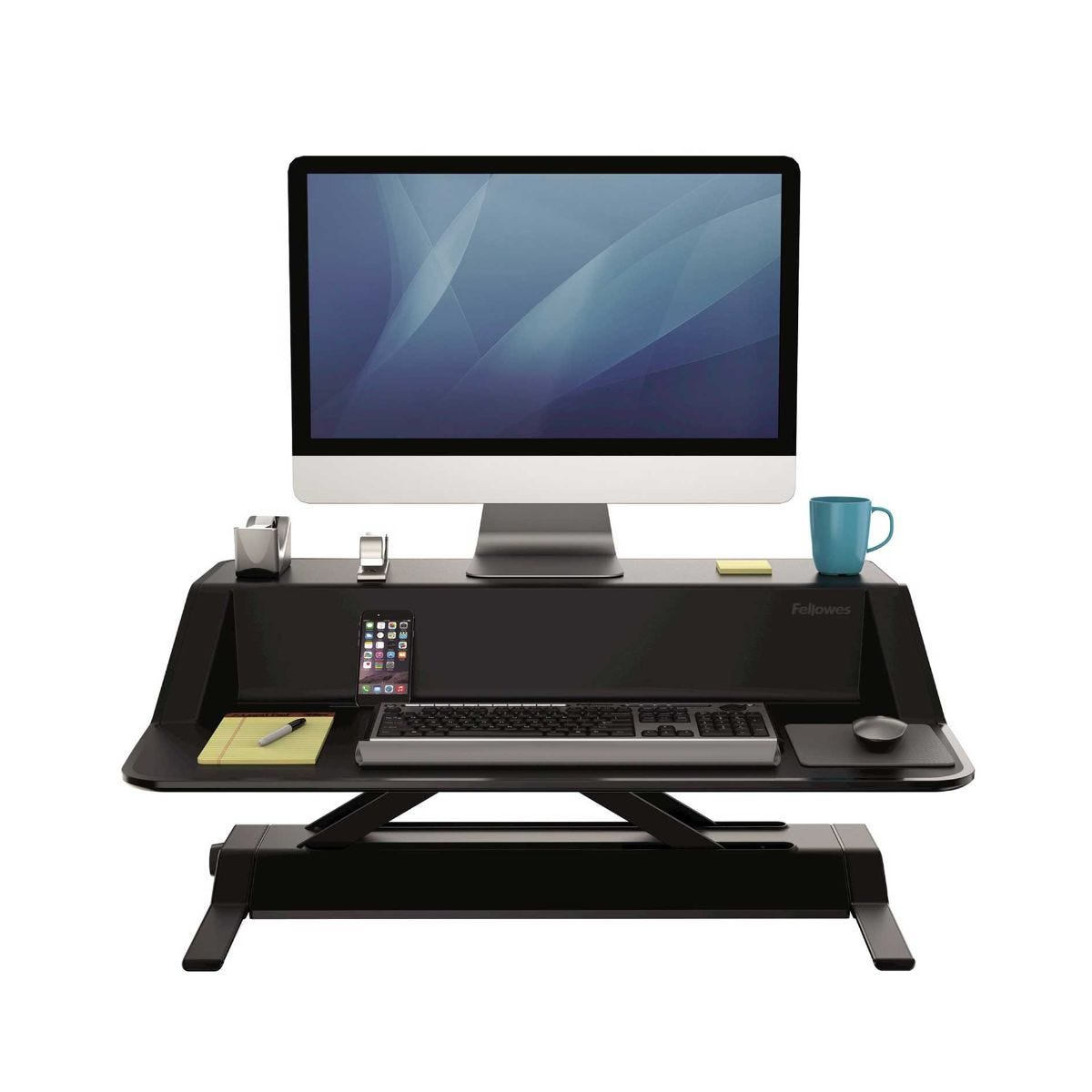 Image of Fellowes Lotus Sit-Stand Workstation, Black