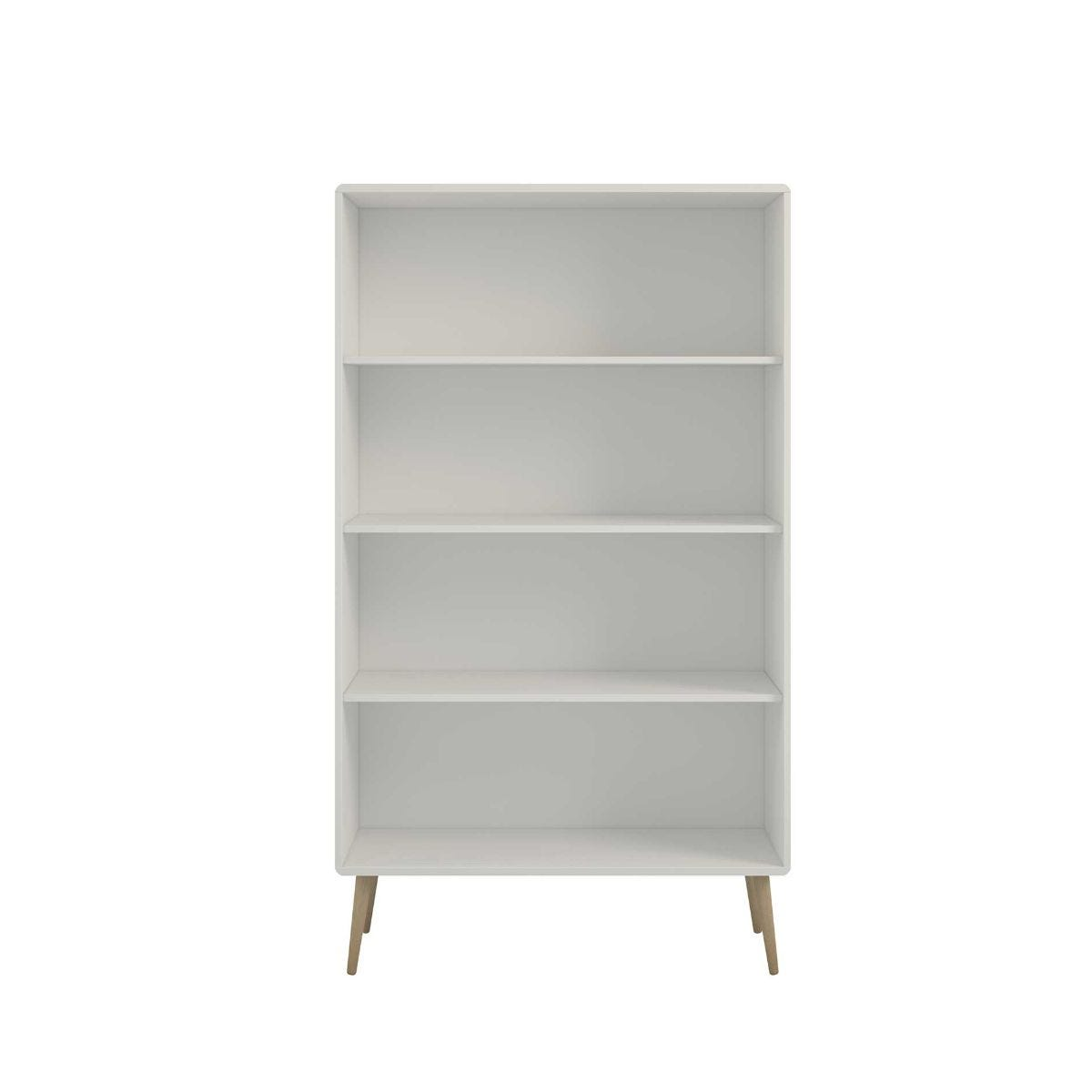 Steens Retro Wide Bookcase, White