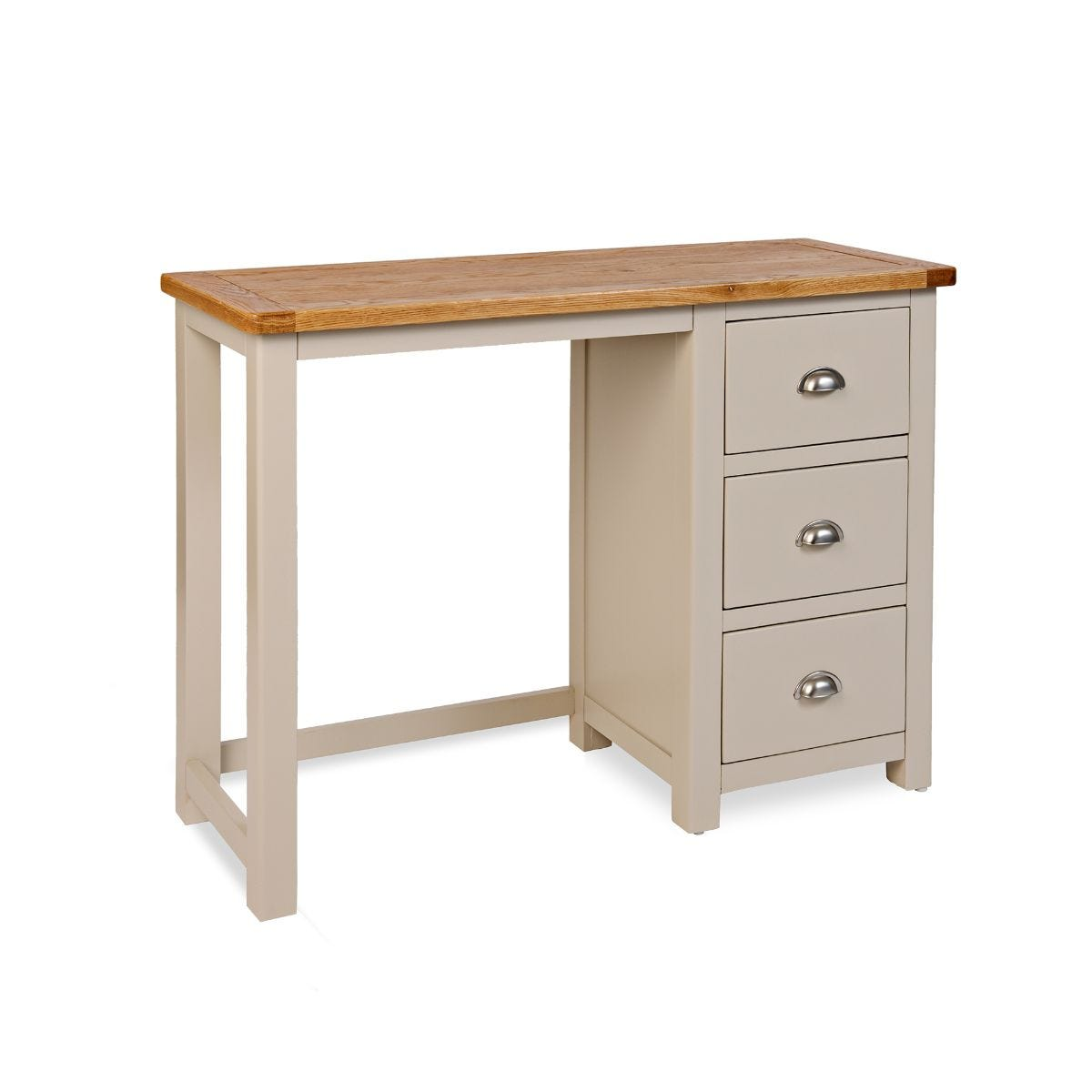 Wiltshire Home Office Desk Oak and Stone Grey, Oak/Stone Grey