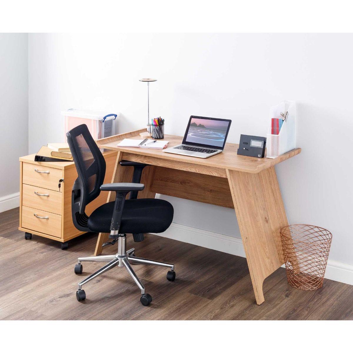 Oxford Trestle Office Desk Oak Effect Visit Ryman