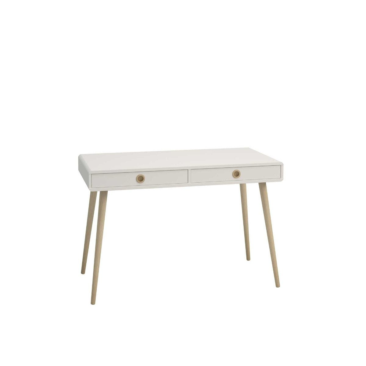 Steens Retro Home Office Desk, White