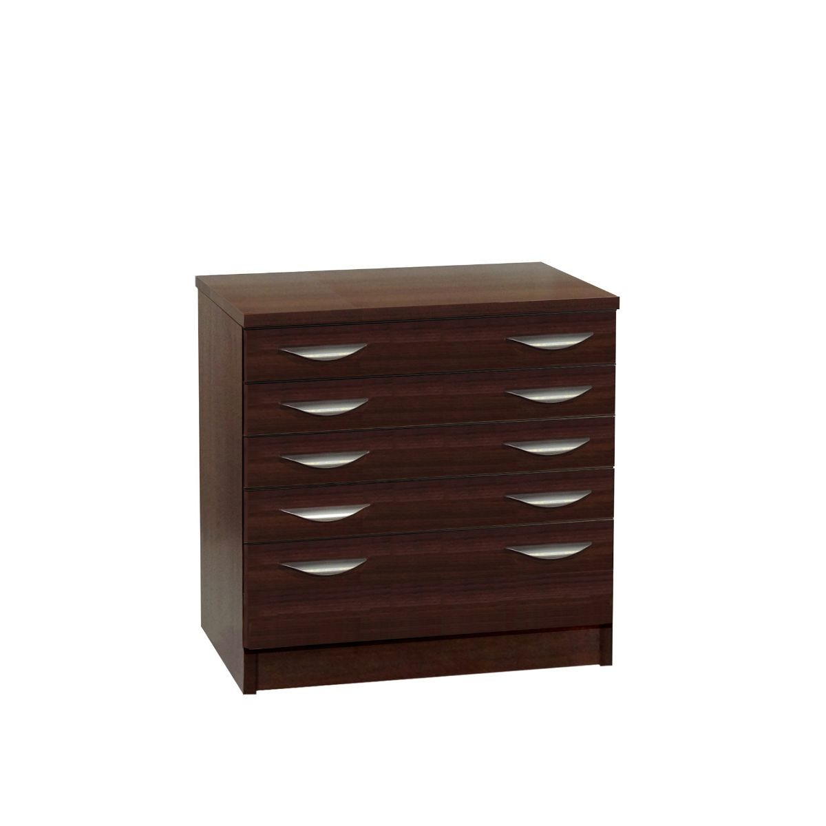 R White Professional 5 Drawer A2 Plan Chest, Walnut Wood Grain