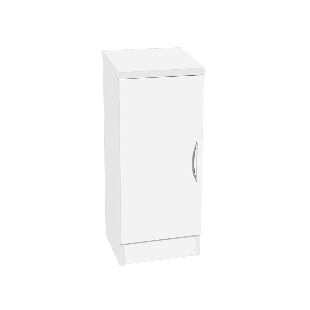 R White Desk Height Narrow Cupboard 30cm White Satin, White Satin
