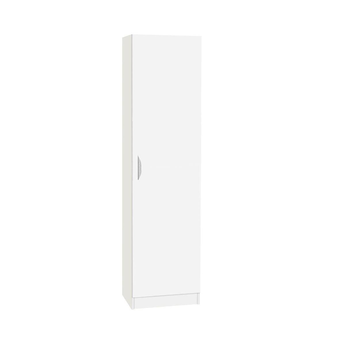 R White Tall Cupboard Storage White, White