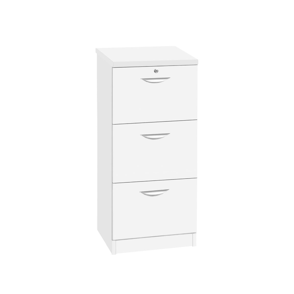 R White 3 Drawer Cabinet, White