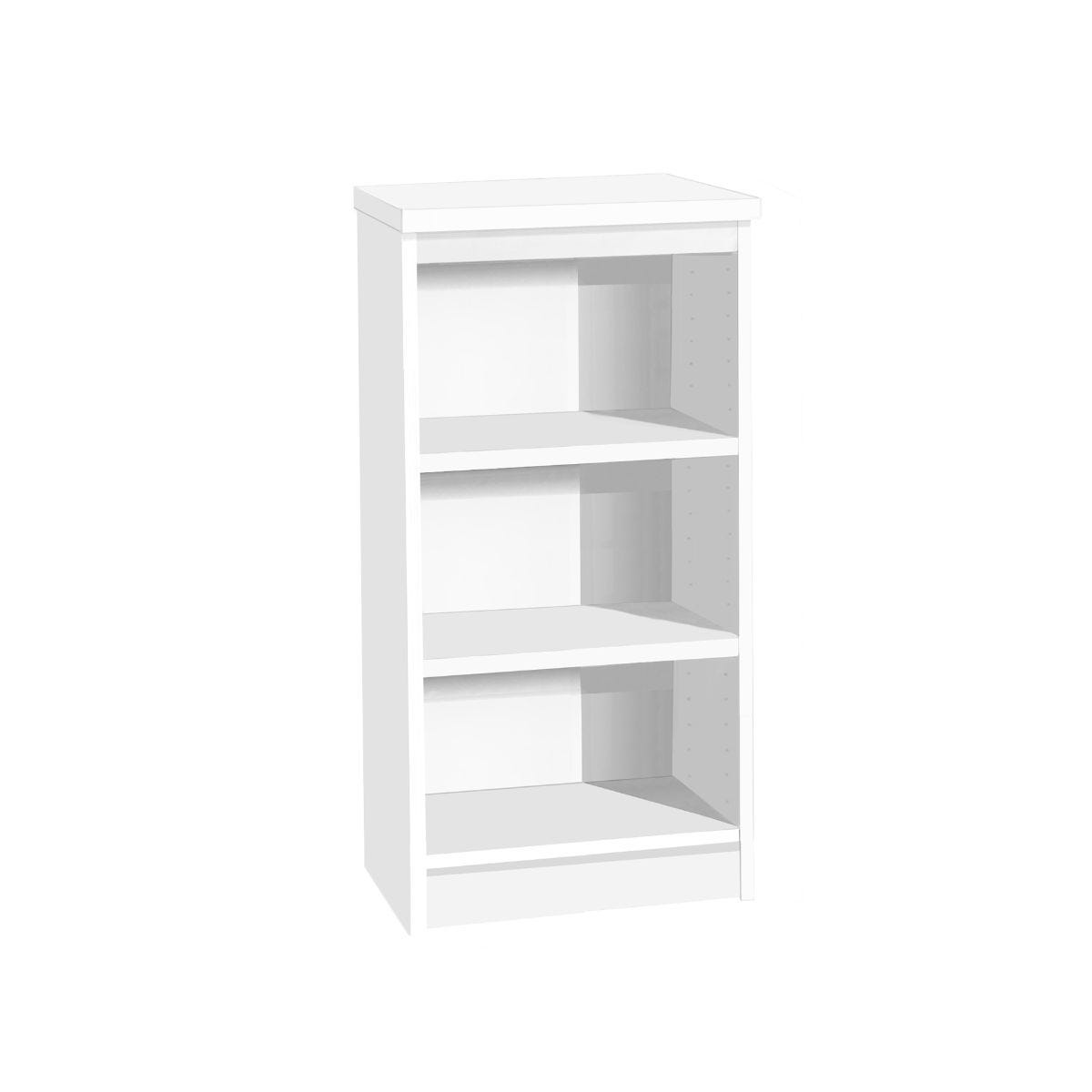 R White Mid Height Bookcase, White