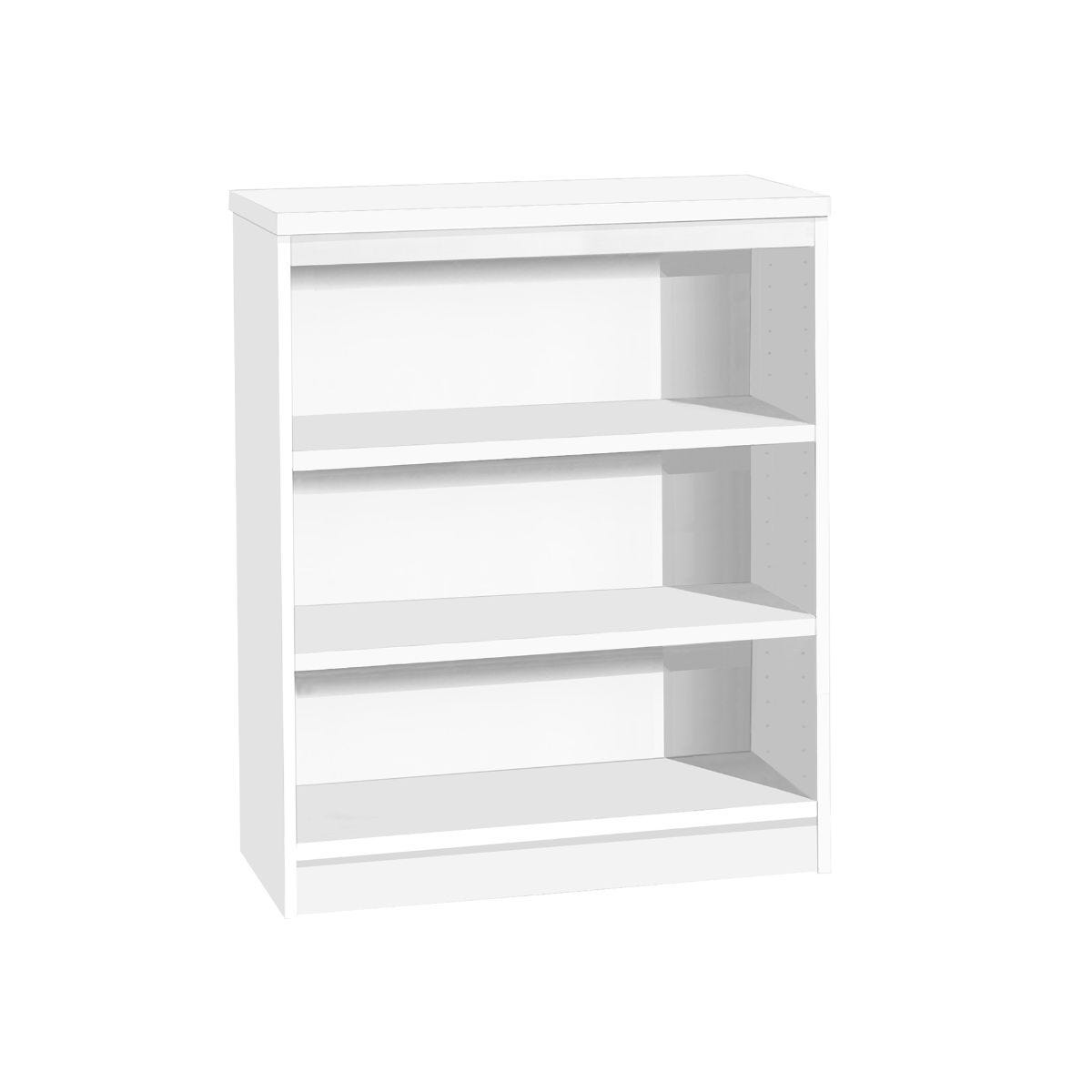 R White Mid Height Bookcase Wide, White