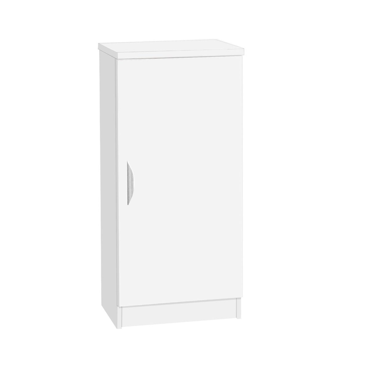 R White Mid Height Cupboard, White