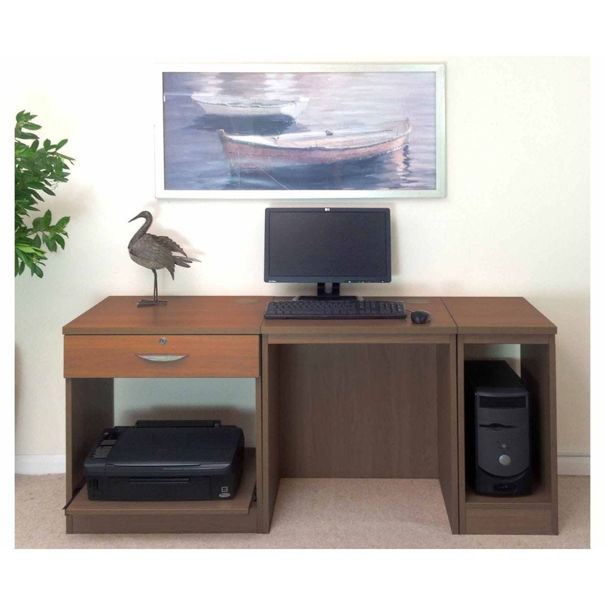 White Wood Home Office Furniture ~ R white home office furniture desk teak wood grain kb tyres