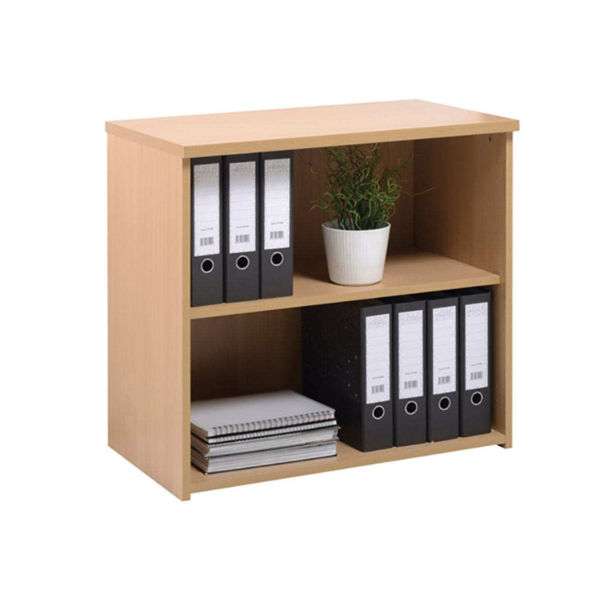 Low Bookcase with a Single Shelf, Beech